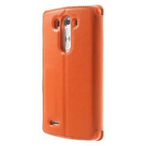 Roar peněženkové pouzdro s okýnkem na LG G3 - oranžové - 2