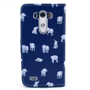 Obrázkové pouzdro na mobil LG G3 - sloníci - 2