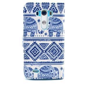 Obrázkové pouzdro na mobil LG G3 - modří sloni - 2