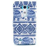 Obrázkové pouzdro na mobil LG G3 - modří sloni - 2/6