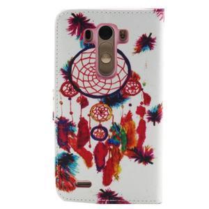 Obrázkové koženkové pouzdro na mobil LG G3 - lapač snů - 2