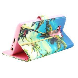 Obrázkové koženkové pouzdro na mobil LG G3 - palmy - 2