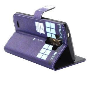 Obrázkové koženkové pouzdro na mobil LG G3 - policie - 2