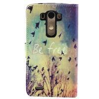Obrázkové koženkové pouzdro na mobil LG G3 - létající ptáčci - 2/5