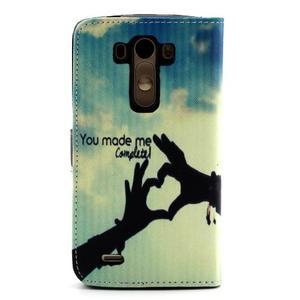 Obrázkové koženkové pouzdro na mobil LG G3 - láska - 2