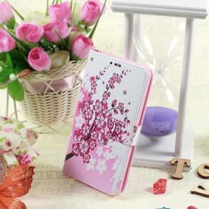 Motive koženkové pouzdro na LG G3 - kvetoucí větvička - 2