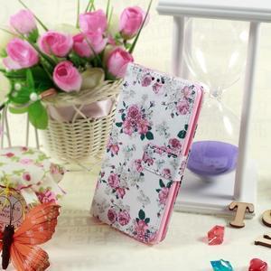 Motive koženkové pouzdro na LG G3 - květiny - 2