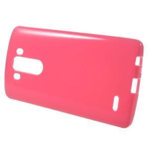 Lesklý gelový obal na LG G3 - červený - 2