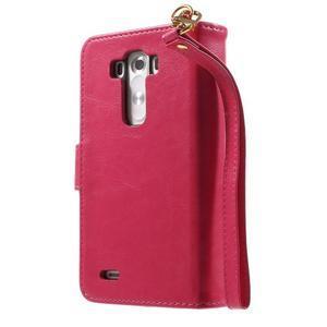 Patrové peněženkové pouzdro na mobil LG G3 - rose - 2