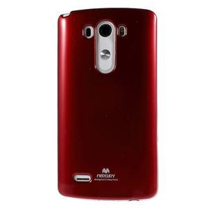 Odolný gelový obal na mobil LG G3 - vínově červený - 2