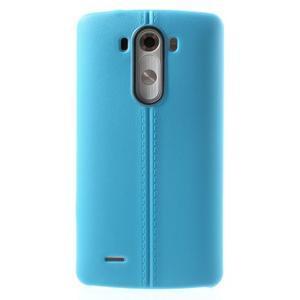 Lines gelový kryt na mobil LG G3 - modrý - 2