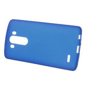 Matný gelový obal na LG G3 - tmavěmodrý - 2
