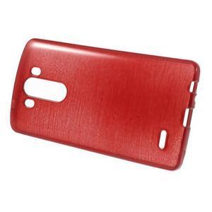 Brush gelový obal na LG G3 - červený - 2