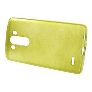 Brush gelový obal na LG G3 - zelený - 2