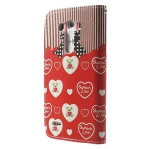 Obrázkové pouzdro na mobil LG G3 - zamilovaný medvídek - 2