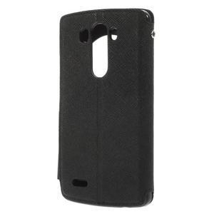 Diary pouzdro s okýnkem na mobil LG G3 - černé - 2