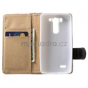 Elegantní lilie peněženkové pouzdro na LG G3 s - bílé - 2