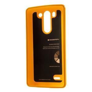 Odolný gelový obal na LG G3 s - oranžový - 2