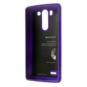 Odolný gelový obal na LG G3 s - fialový - 2