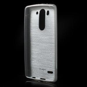 Broušený gelový obal na LG G3 s - šedý - 2