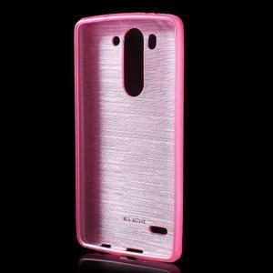 Broušený gelový obal na LG G3 s - rose - 2