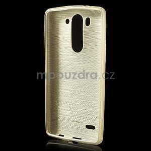 Broušený gelový obal na LG G3 s - zlatý - 2