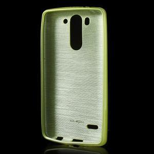 Broušený gelový obal na LG G3 s - zelený - 2