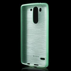 Broušený gelový obal na LG G3 s - azurový - 2