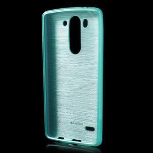 Broušený gelový obal na LG G3 s - tyrkysový - 2