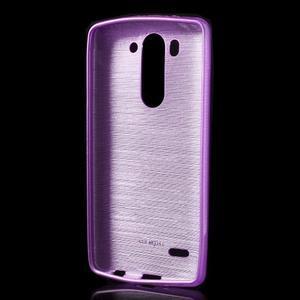 Broušený gelový obal na LG G3 s - fialový - 2