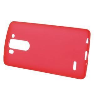 Červený matný gelový kryt LG G3 s - 2