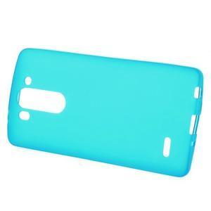 Světle modrý matný gelový kryt LG G3 s - 2