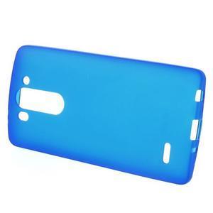 Modrý matný gelový kryt LG G3 s - 2