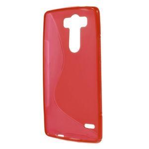 S-line červený gelový obal na LG G3 s - 2