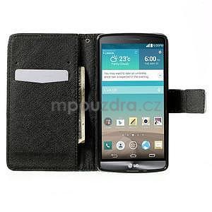 Zapínací peněženkové pouzdro pro LG G3 s - květina mandala - 2