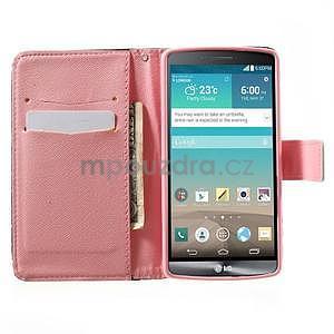 Zapínací peněženkové pouzdro pro LG G3 s - srdce - 2