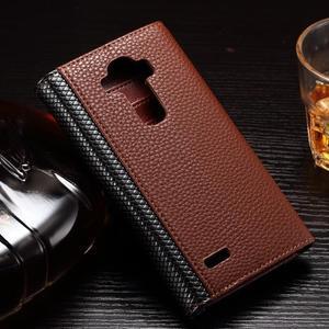 Enlop peněženkové pouzdro na LG G4 - hnědé/černé - 2