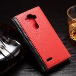 Enlop peněženkové pouzdro na LG G4 - červené/černé - 2/3