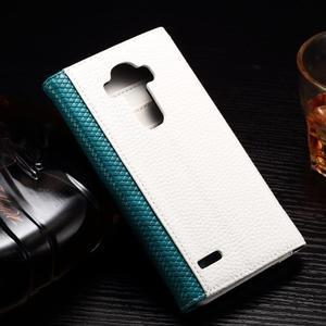 Enlop peněženkové pouzdro na LG G4 - modré/bílé - 2