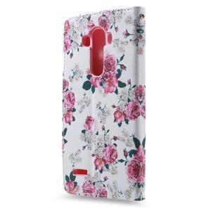 Call peněženkové pouzdro na LG G4 - květiny - 2