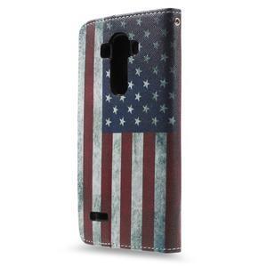 Call peněženkové pouzdro na LG G4 - US vlajka - 2