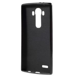 Lesklý gelový obal na LG G4 - černý - 2
