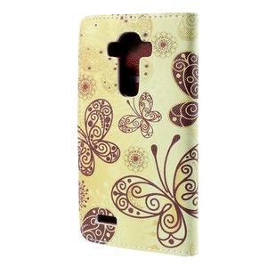 Koženkové pouzdro na mobil LG G4 - motýlci - 2