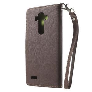Leaf peněženkové pouzdro na mobil LG G4 - hnědé - 2