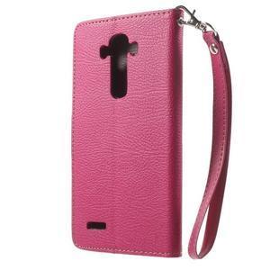 Leaf peněženkové pouzdro na mobil LG G4 - rose - 2