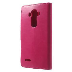 Luxury PU kožené pouzdro na mobil LG G4 - rose - 2