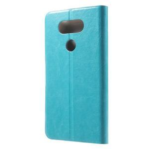 Horse PU kožené peněženkové pouzdro na LG G5 - modré - 2