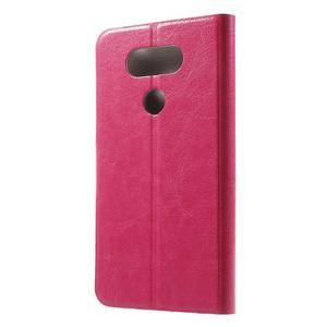 Horse PU kožené peněženkové pouzdro na LG G5 - rose - 2