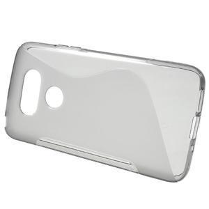 S-line gelový obal na mobil LG G5 - šedý - 2