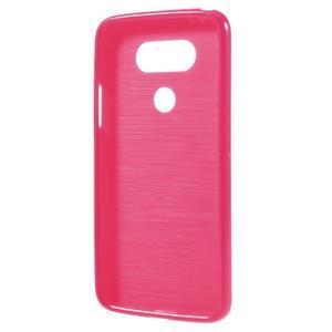 Lesklý gelový obal na mobil LG G5 - rose - 2
